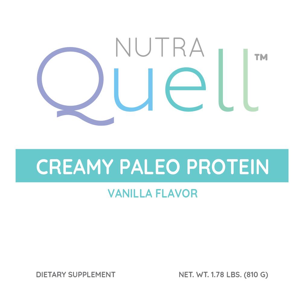 Creamy Paleo Protein Vanilla Front Label
