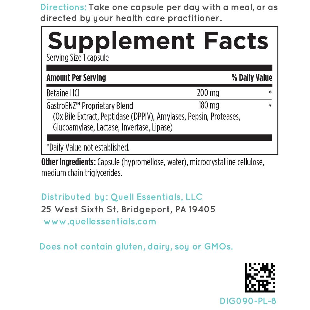Digest Aid Plus Supplement Facts