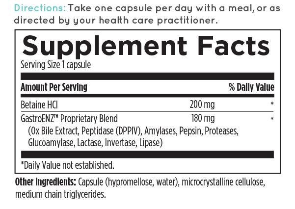 Digest Aid Ingredients